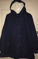 NEW Woman Within Plus Size Parka Jacket Coat with Hood Blue Sz Large 16W