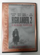 Video DVD - Highlander 2 - Lambert - Renegade Version - Very Good (VG) WORLDWIDE