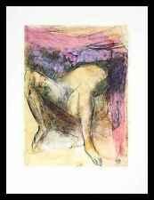 Agosto Rodin femme nue de dos poster stampa d'arte nel quadro in alluminio 70x50cm