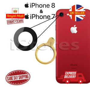 iPhone 7 & 8 Replacement Rear Back GLASS Camera Lens Cover with Adhesive