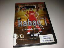 Kabaddi Once Again DVD NTSC Region 0 USA/Canada! Punjabi with English Subtitles!