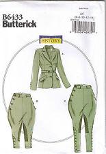 Edwardian Riding Breeches Jacket Jodhpurs Costume Sewing Pattern 6 8 10 12 14