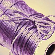 50 Yards Lilac Nylon 2mm Satin Cord RatTail Kumihimo Braiding 150 ft ~ Lavender