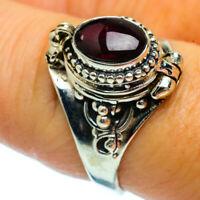 Garnet 925 Sterling Silver Poison Ring Size 8.25 Ana Co Jewelry R36792F