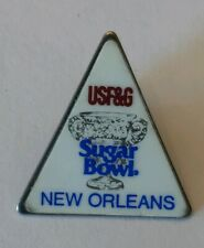 Vintage NCAA New Orleans USF&G Sugar Bowl Triangle Trophy Lapel Pin