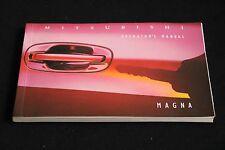 Mitsubishi Magna Operator's Manual TS Series 1994-1997