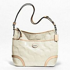 New Coach 20022 PATENT Leather CONVERTIBLE HOBO Bag Purse White
