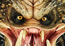 A4 POSTER-Predator 's Faccia (Blu-ray film in DVD FILM foto print arte Arnold)
