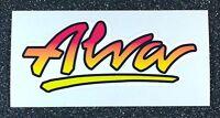 Alva Logo skateboard sticker Authentic Alva reissue 4.5in red to yellow fade si