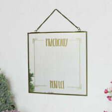 Square Gold Wall Hanging Mirror gift modern vintage pretty home decor bedroom