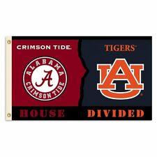 Alabama Crimson Tide and Auburn Tigers Divided Flag 3x5ft