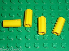 4 x LEGO TECHNIC Yellow Axle Connector 59443 / Set 8264 8043 42000 10212 9397...