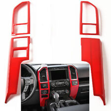 For 2015-18 Ford F150 Red Console Center Dashboard Panel Frame Cover Trim 4pcs