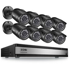 Zosi 16 Ch Channel H.265+ Dvr (8) 1080p Surveillance Security Camera System Kit