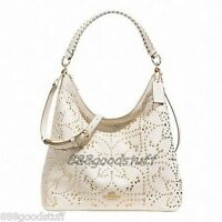 99f74d42f09a NWT Coach F 35203 CELESTE CONVERTIBLE HOBO IN MINI STUDDED LEATHER Shoulder  Bag