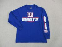 NFL New York Giants Shirt Adult Large Blue Red NFL Football Long Sleeve Mens *