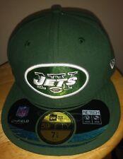 NY Jets Cap Green NFL New Era On Field Jet Game Hat NEW YORK 5950 Flat Brim7 1/8