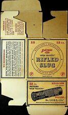 Peters High Velocity Rifled Slug Empty Box 12 Ga 120 RS 1950s