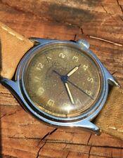 Rare Vintage Military Watch Radio Bumper Patina Trizio WWII Lirvaco Automatic