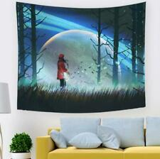 3D Girl Guitar Moon A230 Tapestry Hanging Cloth Hang Wallpaper Mural Photo Zoe