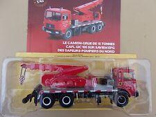 n° 74 SAVIEM EPG camion POMPIER GRUE Sapeurs Pompiers du Nord 1/43 Neuf Boite