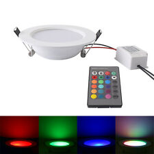 5W RGB LED Recessed Ceiling Panel Light IR Remote Control Downlight 16 Colors