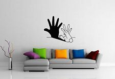 Wall Stickers Vinyl Decal Bunny Joke Shade Modern Style For Kids ig1473