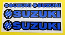 SUZUKI style Motorbike RM-Z DR-Z Motorcycle Fork Decals Stickers BLUE/BLACK