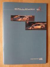 CALLAWAY IVM C12 Coupe orig c1998 prestige brochure - Corvette power