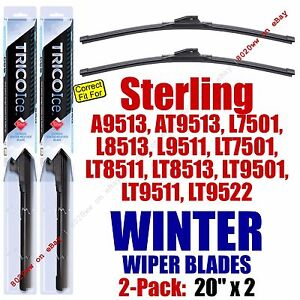 WINTER Wipers 2pk Premium fit 1999-2001 Sterling Truck A AT L LT Series -35200x2