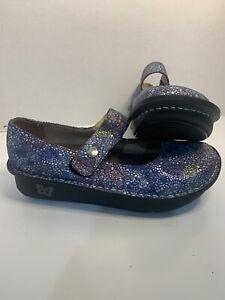 Alegria PAL-335 Paloma Multicolor Bubbles Mary Jane Clogs Shoes WMNS Sz 38