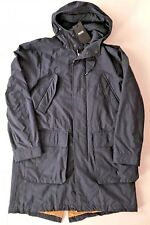 NWT Hugo Boss Mens Hooded Raincoat Made in Italy US 38R/IT 48 Dark Blue