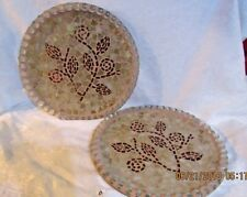 "2 BEAUTIFUL 13"" Handmade Mosaic Stained Glass Centerpiece Plates"