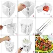 Detachable Stainless Steel BBQ Tool Kebab Meat Maker Box Skewers w/ 36 Holes