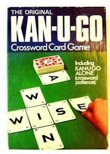 Kan-U-Go Card Game Complete 60 Card Set Word Building Game Waddingtons 1976