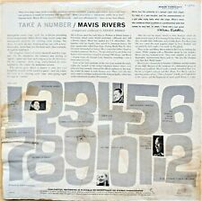 JAZZ POP LP: MAVIS RIVERS (from Samoa) TAKE A NUMBER Capitol T 1210
