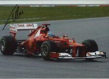 Fernando Alonso Ferrari F2012 Winner Malasia Grand Prix 2012 Firmado fotografía