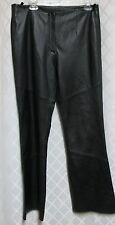 Leather Pants Limited Woman's Black Biker Soft Boot Cut Lined Size 14 Waist 34