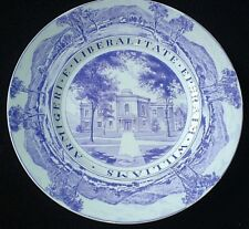 WEDGWOOD WILLIAMS COLLEGE LAWRENCE HALL Purple 10 3/4 inch Plate