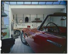 orig. Farbfoto Kodak-Diapositiv BMW 507 Cabrio München Garage Werkstatt 1968