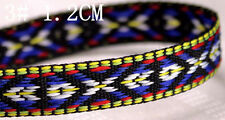 1 Yard Jacquard Ribbon Braid Trim Embroidery Flowers Fits Boho Choker DIY Crafts