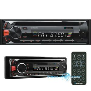 BLAUPUNKT BOSTON 100 CD, MP3 AND FM CAR STEREO RECEIVER WITH USB, SD AND AUX