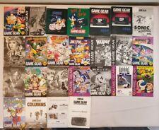 Sega GAME GEAR Instruction Manual Booklets Lot Crystal Warriors Sonic Tazmania &