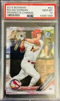 PSA 10/ GEM-MT! 2019 Bowman Prospects Chrome NOLAN GORMAN Rookie #60  CARDINALS