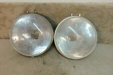 "2 USED DUCELLIER EUROCOD 158 7"" HEADLAMPS PEUGEOT 403 404 SIMCA 1100 1300 1500"