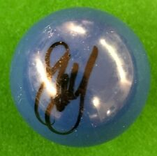 STEPHEN HENDRY HAND SIGNED BLUE SNOOKER BALL PROOF.
