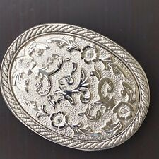 Plain Flower Belt Buckle SILVER MEN WOMEN Cowboy BUCKLE Silver High Quality