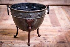 Antique Late 19th Century Verdigris Copper Bowl / Vase / Planter
