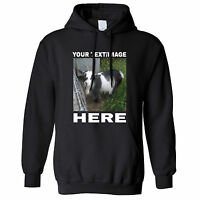 Your Image Here Custom Personalised Design Printed Hoodie Birthday Gift