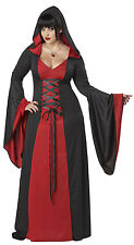Womens 3X (20-22) Adult Red Hooded Robe Plus Size Costume - Gothic Halloween Cos